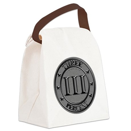 Three Percent Silver Canvas Lunch Bag