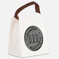 Three Percent Silver Canvas Lunch Bag