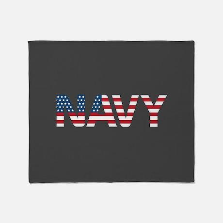 Navy Gflag Throw Blanket Throw Blanket