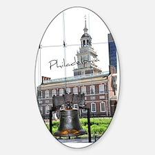 Philadephia_LibertyBell_Independenc Sticker (Oval)