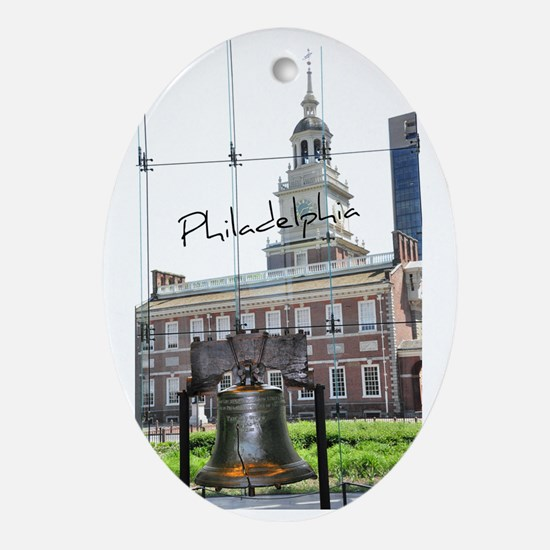 Philadephia_LibertyBell_Independence Oval Ornament