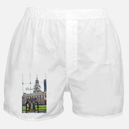 Philadephia_LibertyBell_IndependenceH Boxer Shorts