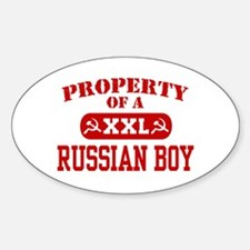 Property of a Russian Boy Oval Decal