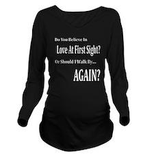 Love At First Sight Long Sleeve Maternity T-Shirt