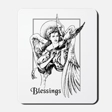 Angel with Dove Blessings Mousepad