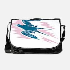 Tern Flying Woodcut Messenger Bag