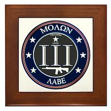 Molon Labe Framed Tile