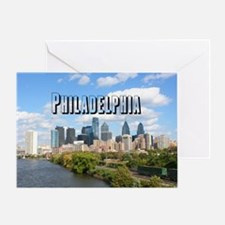 Philadephia_Rect_Skyline Greeting Card