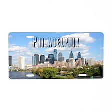 Philadephia_Rect_Skyline Aluminum License Plate