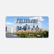Philadephia_Rect_Skyline Aluminum License Plate