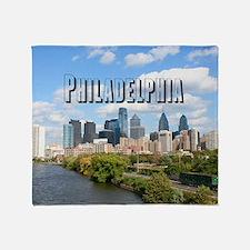 Philadephia_Rect_Skyline Throw Blanket