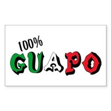 100% Guapo Rectangle Decal