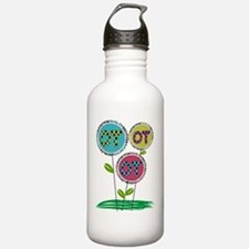 OT FLOWERS FINISHED 1 Sports Water Bottle