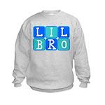 Lil Bro (Blue/Green) Kids Sweatshirt