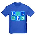 Lil Bro (Blue/Green) Kids Dark T-Shirt