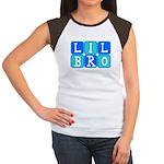 Lil Bro (Blue/Green) Women's Cap Sleeve T-Shirt