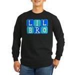 Lil Bro (Blue/Green) Long Sleeve Dark T-Shirt