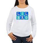 Lil Bro (Blue/Green) Women's Long Sleeve T-Shirt