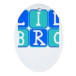 Lil Bro (Blue/Green) Oval Ornament