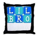 Lil Bro (Blue/Green) Throw Pillow
