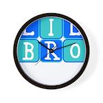 Lil Bro (Blue/Green) Wall Clock