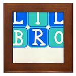 Lil Bro (Blue/Green) Framed Tile