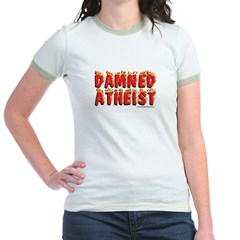 Damned Atheist Ringer T-shirt