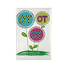 OT FLOWERS FINISHED 1 Rectangle Magnet