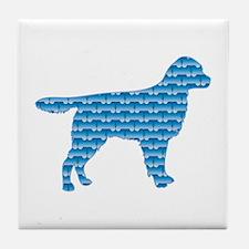 Bone Stabyhoun Tile Coaster