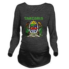 Tanzania Coat Of Arm Long Sleeve Maternity T-Shirt