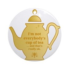 Cup of tea Round Ornament