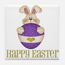 Happy Easter - Bunny/Egg Tile Coaster