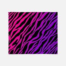purplepinkzebra Throw Blanket