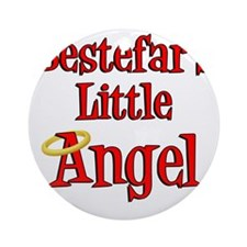 Bestefars Little Angel Round Ornament