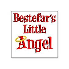 "Bestefars Little Angel Square Sticker 3"" x 3"""