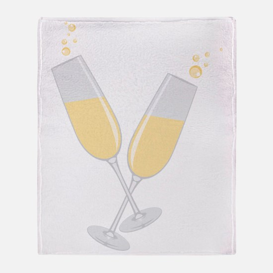 Champagne Throw Blanket