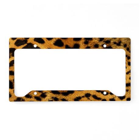 leopard License Plate Holder