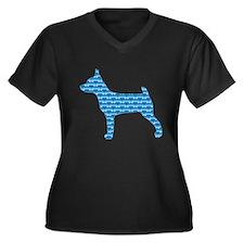Bone TFT Women's Plus Size V-Neck Dark T-Shirt