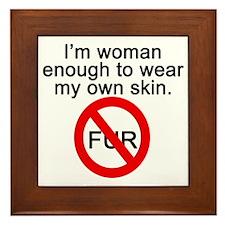 No to Fur Framed Tile