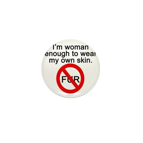 No to Fur Mini Button