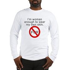 No to Fur Long Sleeve T-Shirt