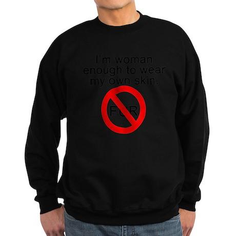 No to Fur Sweatshirt (dark)