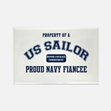 Navy Fiancee Rectangle Magnet