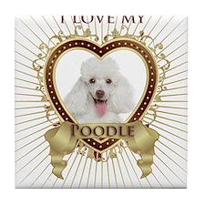 Poodle Love Tile Coaster