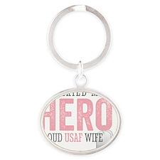 I Married my Hero Oval Keychain