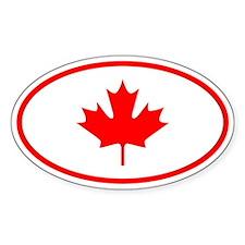 Canada Oval Bumper Stickers