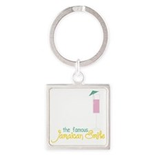 Jamaican Smile Square Keychain