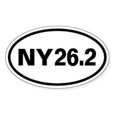 NY 26.2 New York Marathon 26.2 Oval Decal