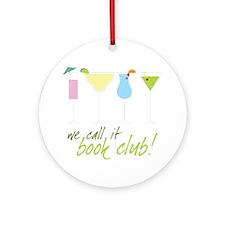 Book Club Round Ornament