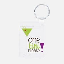 One Tini Please Aluminum Photo Keychain